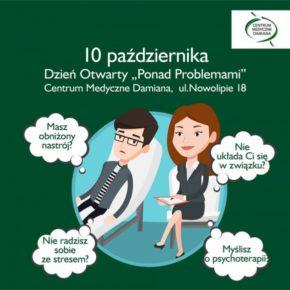 Myślisz o psychoterapii? Zapraszamy na dzień otwarty w Centrum Medycznym Damiana